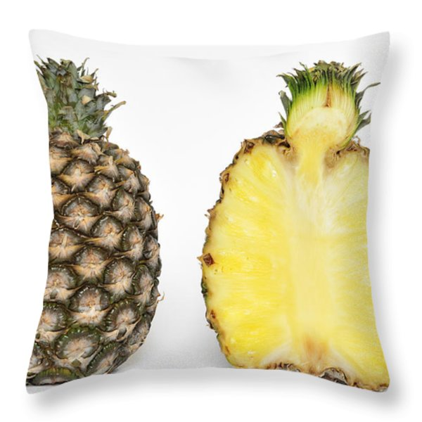 Pineapple Ananas Comosus Throw Pillow by Matthias Hauser