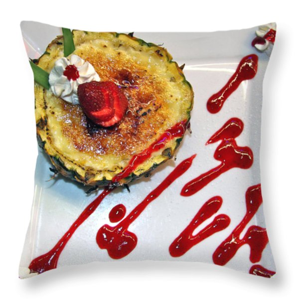 Pineapple Creme Brulee Maui Style Throw Pillow by Karon Melillo DeVega