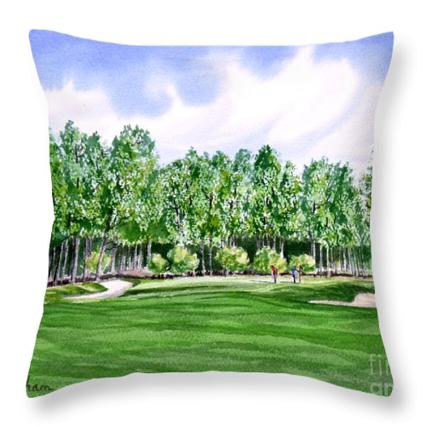 Pinehurst Golf Course 17TH Hole Throw Pillow by Bill Holkham