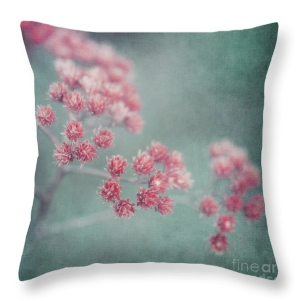 Pink Beauty Throw Pillow by Priska Wettstein