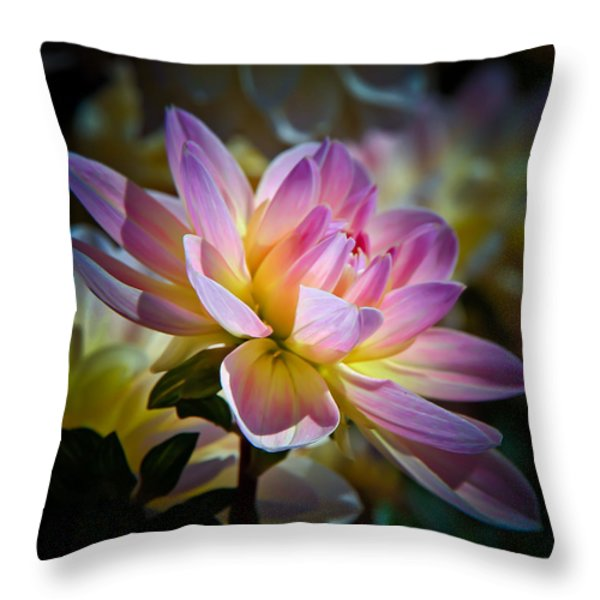 Pink Blossom  Throw Pillow by Athena Mckinzie