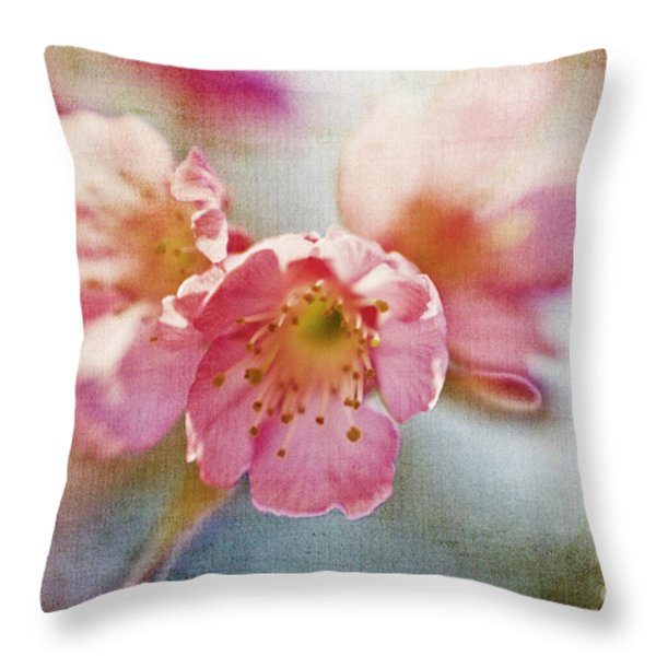 Pink Blossom Throw Pillow by Scott Pellegrin