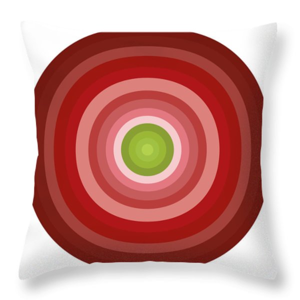 Pink Circles Throw Pillow by Frank Tschakert