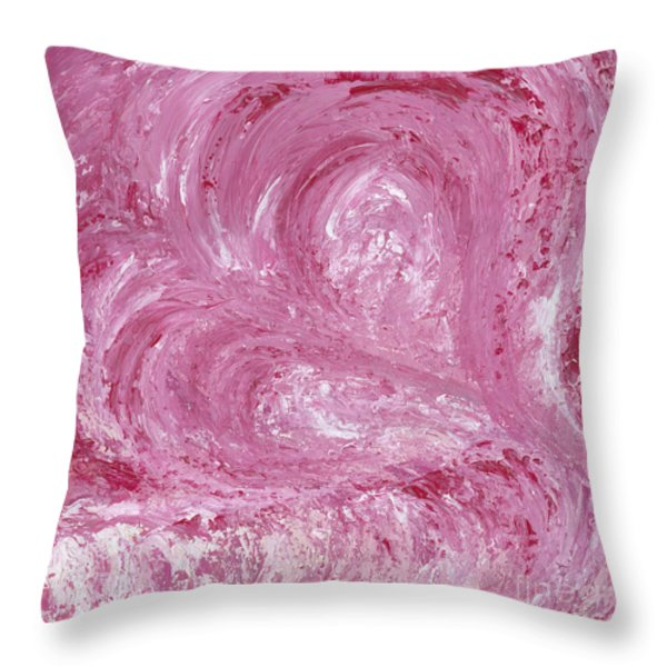 Pink Color of Energy Throw Pillow by Ania M Milo