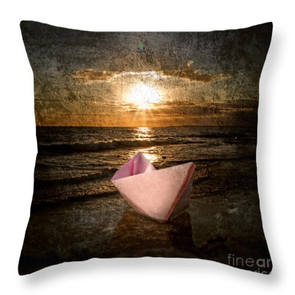 pink dreams Throw Pillow by Stylianos Kleanthous