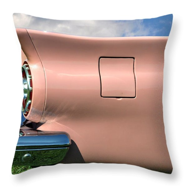 Pink Fins Throw Pillow by Bill Cannon