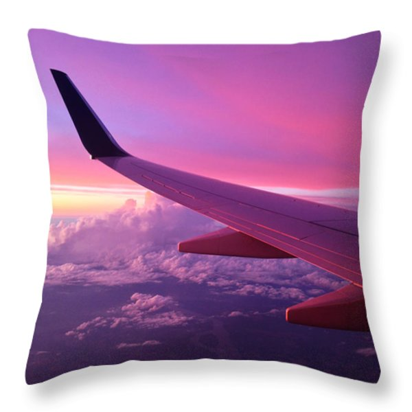 Pink Flight Throw Pillow by Chad Dutson