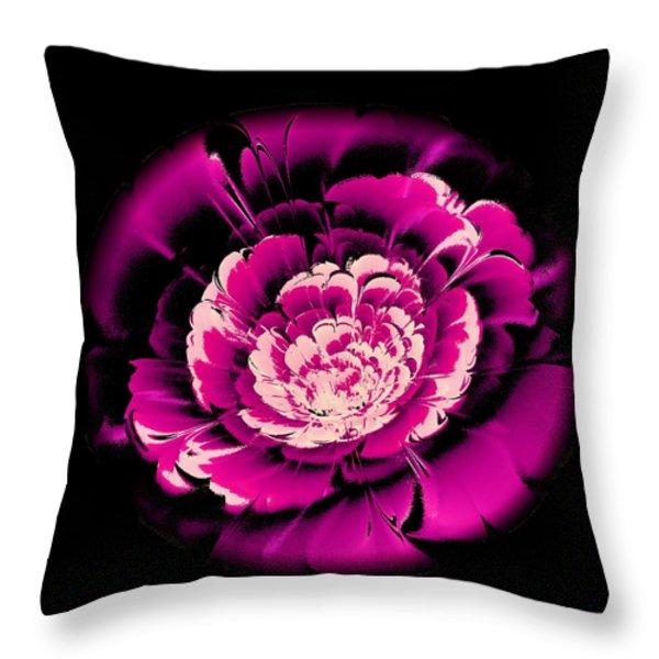 Pink Flower Throw Pillow by Anastasiya Malakhova