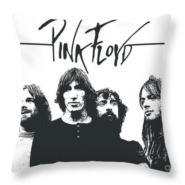 Pink Floyd No.05 Throw Pillow by Caio Caldas