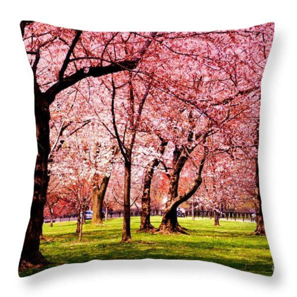 Pink Forest Throw Pillow by Patti Whitten