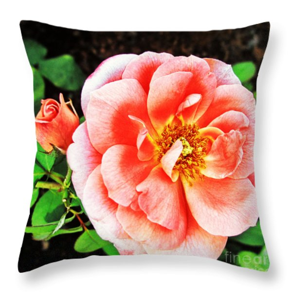 Pink Grace Throw Pillow by Nishanth Gopinathan