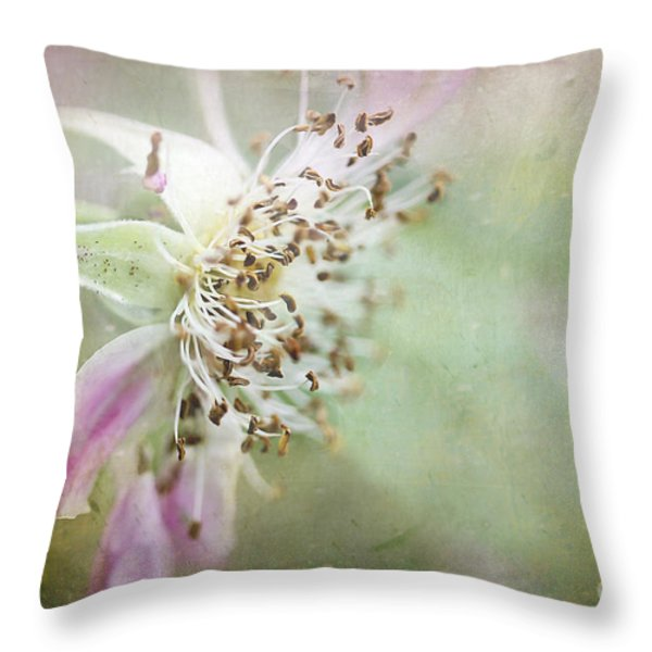 Pink Impression Throw Pillow by Teresa Zieba