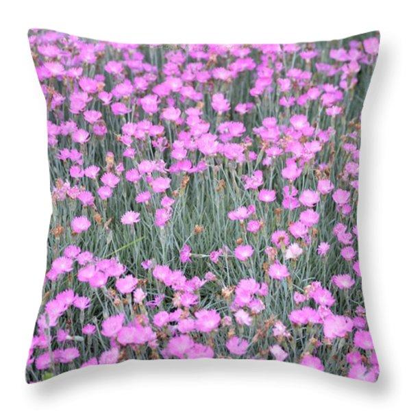 Pink Incarnated Throw Pillow by Sonali Gangane