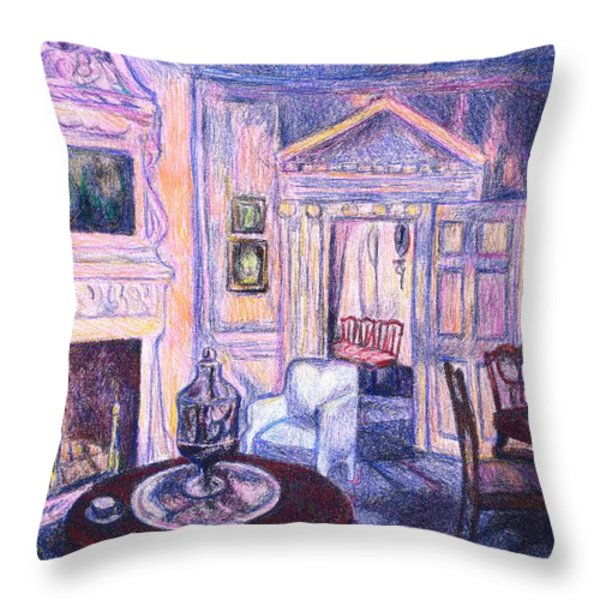 Pink Light At Mount Vernon Throw Pillow by Kendall Kessler