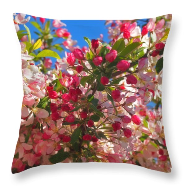 Pink Magnolia Throw Pillow by Joann Vitali