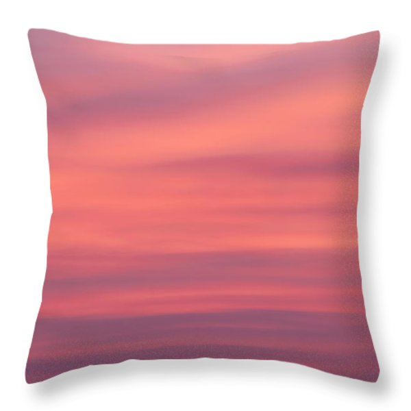 Pink Moon Throw Pillow by Bill  Wakeley