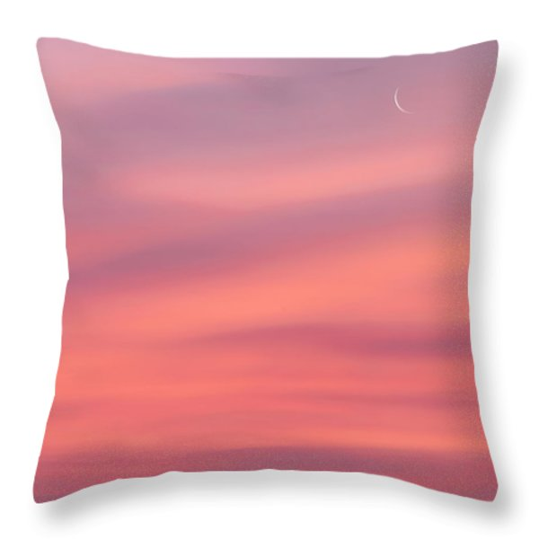 Pink Moon Square Throw Pillow by Bill Wakeley