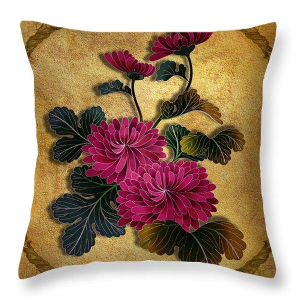 Pink Mum Throw Pillow by Bedros Awak