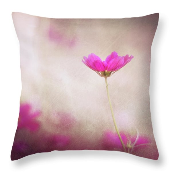 Pink Nouveau Throw Pillow by Amy Tyler
