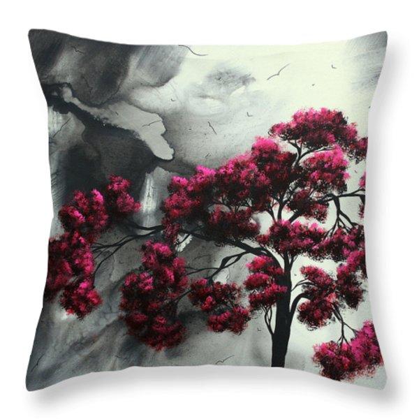 Pink Passion Original Painting MADART Throw Pillow by Megan Duncanson