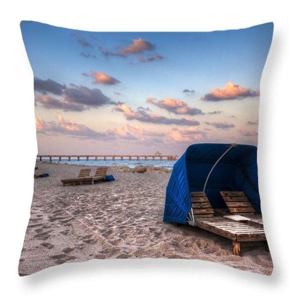 Pink Sands Throw Pillow by Debra and Dave Vanderlaan