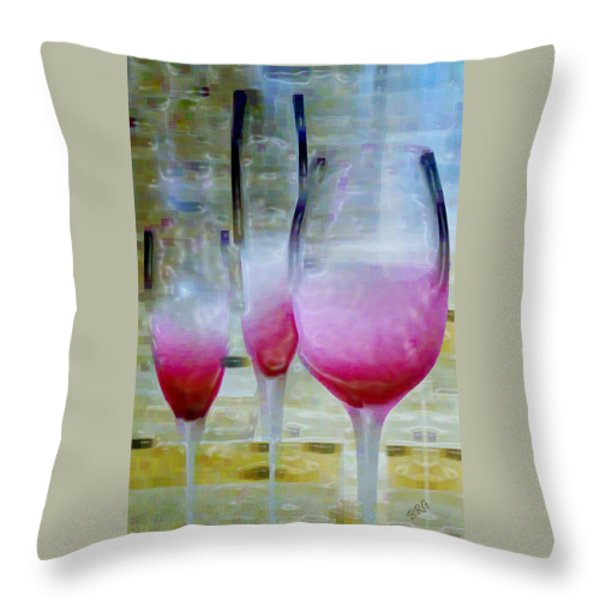 Pink Summer Throw Pillow by Ben and Raisa Gertsberg