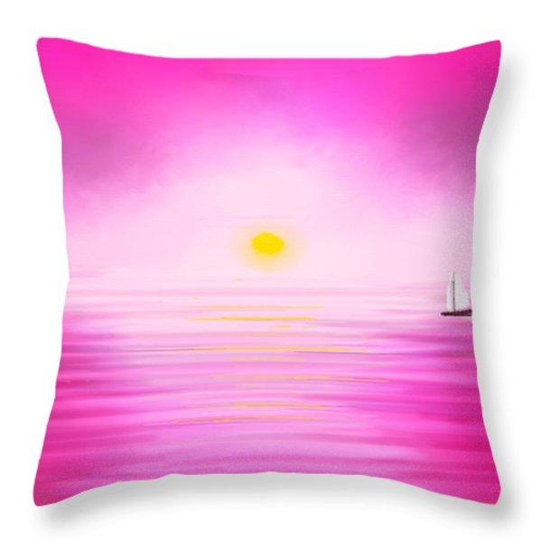Pink Sunset Throw Pillow by Anita Lewis