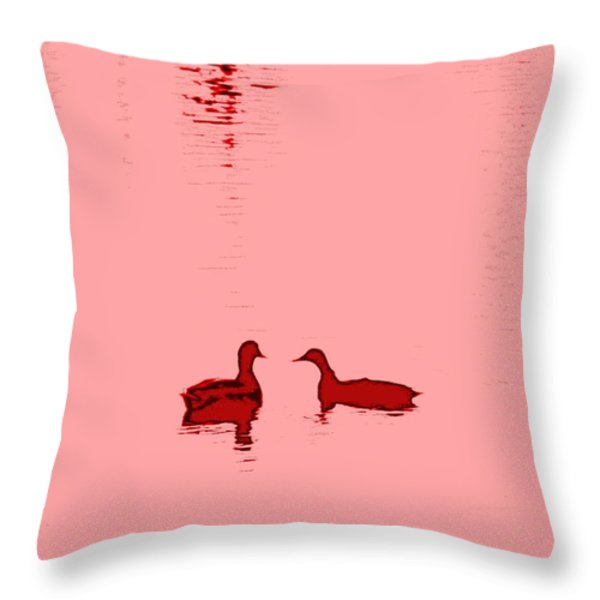 Pink Water Throw Pillow by Hilde Widerberg