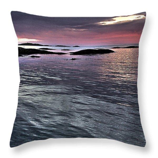 PinkyBlue Horizon 2 Throw Pillow by Heiko Koehrer-Wagner