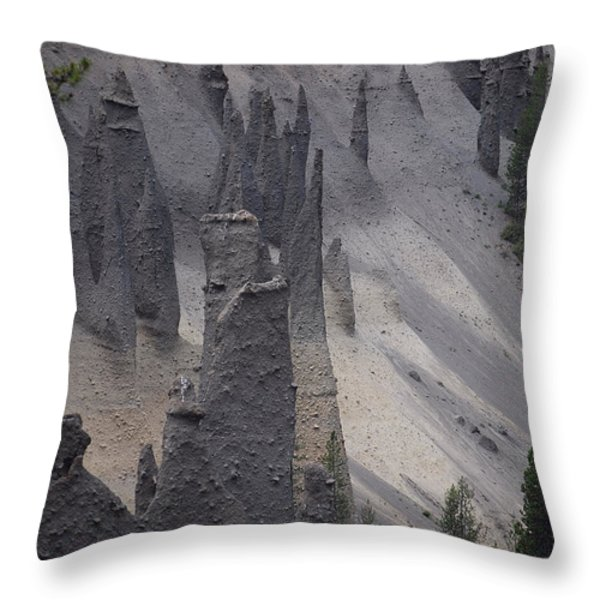 Pinnacles Valley Throw Pillow by Sharon Elliott