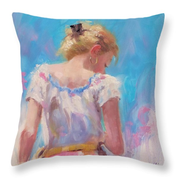 Pino Study Throw Pillow by Laura Lee Zanghetti