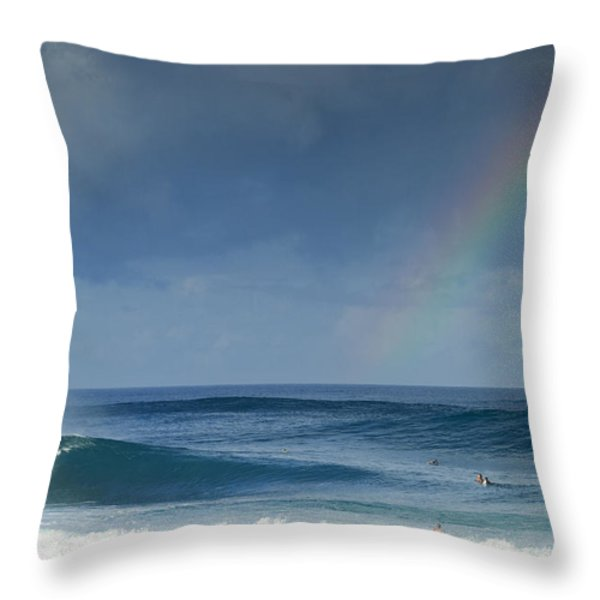 Pipe At The End Of The Rainbow Throw Pillow by Sean Davey