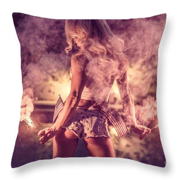 PIPER PRECIOUS SPARKS No78-9366 Throw Pillow by Nasser Studios