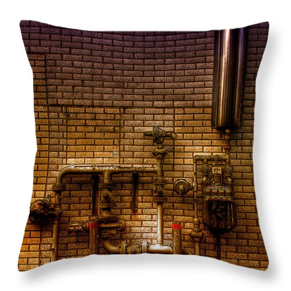 Pipes Throw Pillow by Andre Faubert