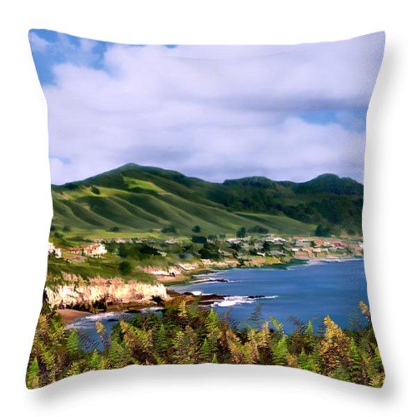 Pirates Cove Throw Pillow by Kurt Van Wagner