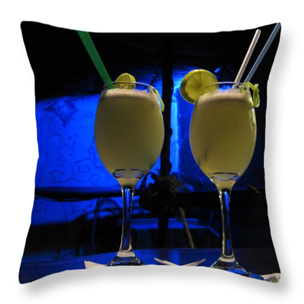 Pisco Sour In Puno Throw Pillow by RicardMN Photography