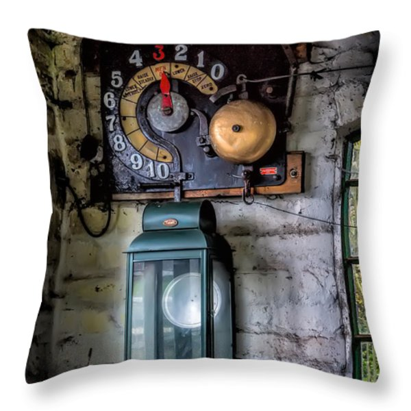 Pit Lift Control Throw Pillow by Adrian Evans