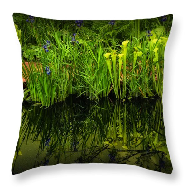 Pitcher Plant Paradise Throw Pillow by Mike Nellums