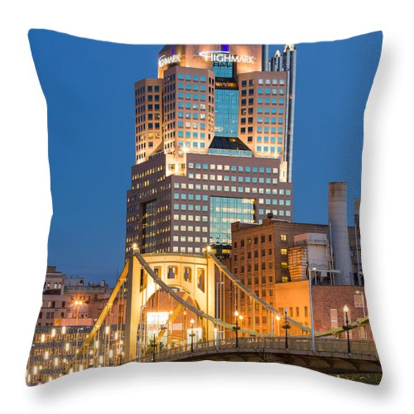 Pittsburgh 23 Throw Pillow by Emmanuel Panagiotakis