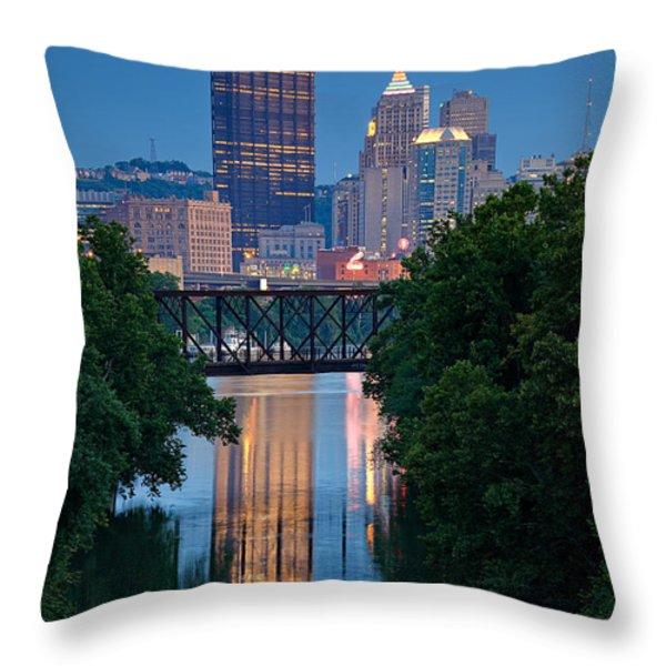 Pittsburgh 67 Throw Pillow by Emmanuel Panagiotakis