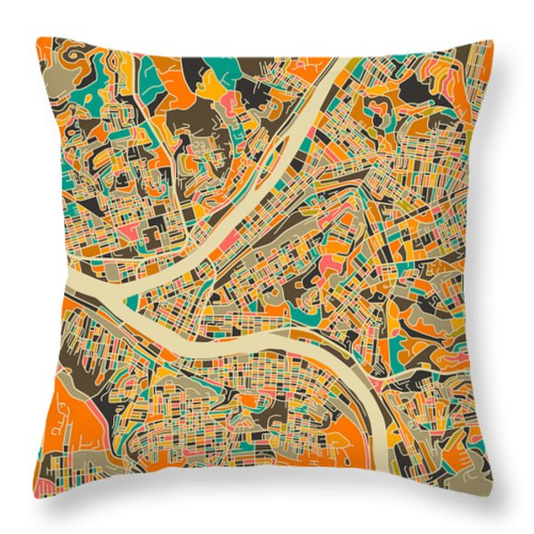 Pittsburgh Throw Pillow by Jazzberry Blue