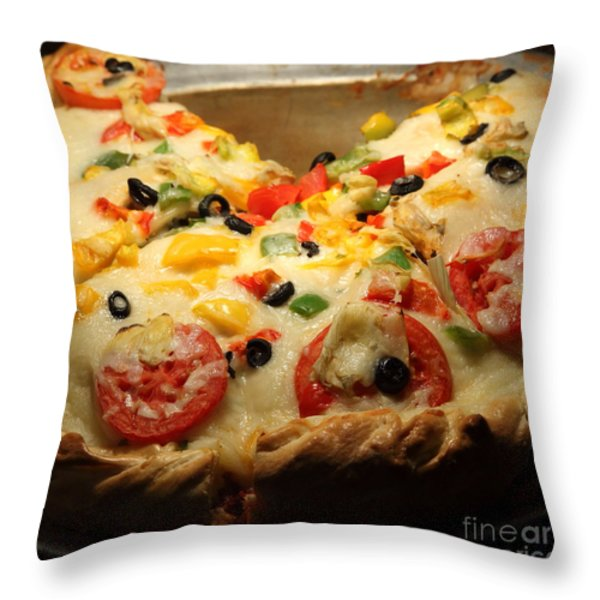 Pizza Pie - 5D20700 - square Throw Pillow by Wingsdomain Art and Photography