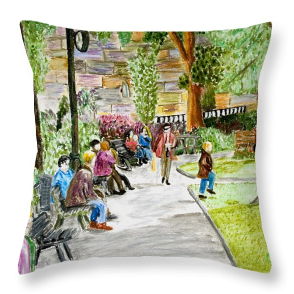 Place Dauphine Throw Pillow by Lawrence Golla