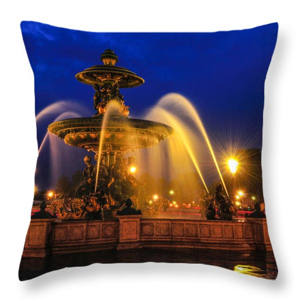 place de la concorde Throw Pillow by Midori Chan