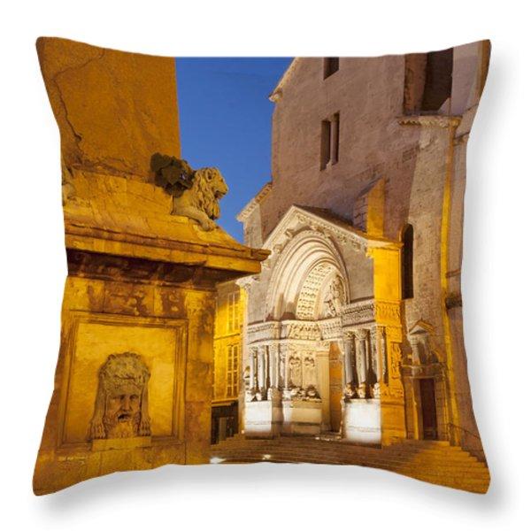 Place De La Republique Throw Pillow by Brian Jannsen