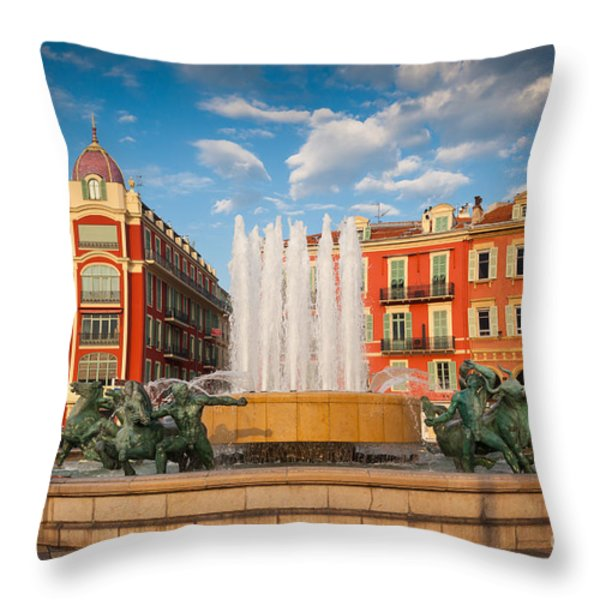 Place Massena At Dusk Throw Pillow by Inge Johnsson