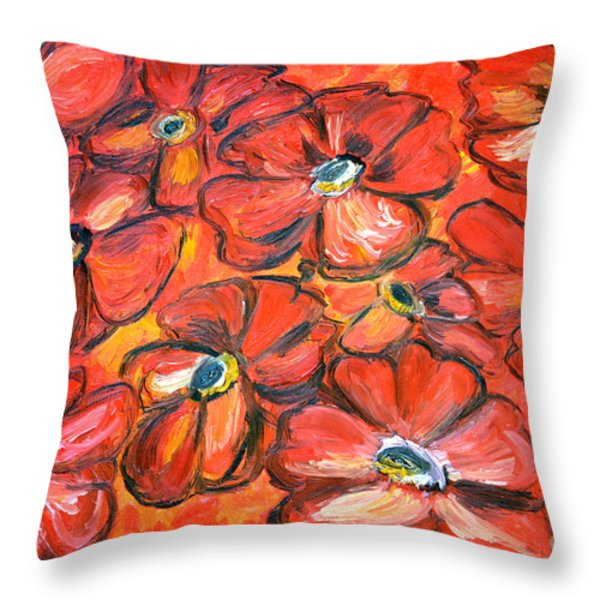 Plaisir Rouge Throw Pillow by Ramona Matei