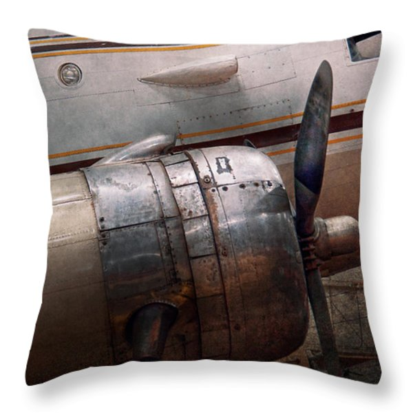 Plane - A little rough around the edges Throw Pillow by Mike Savad