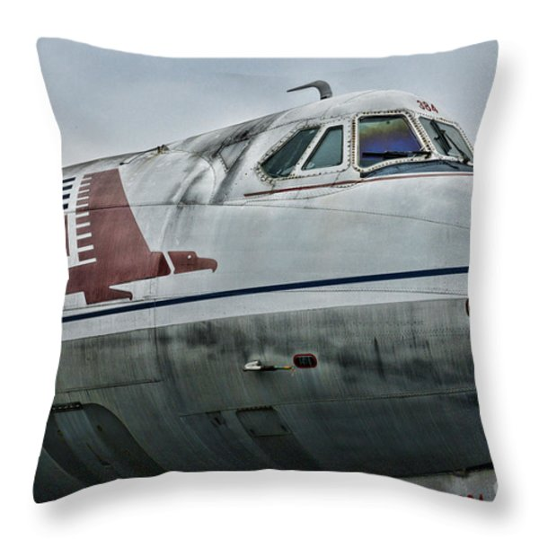 Plane Capital Airlines Throw Pillow by Paul Ward