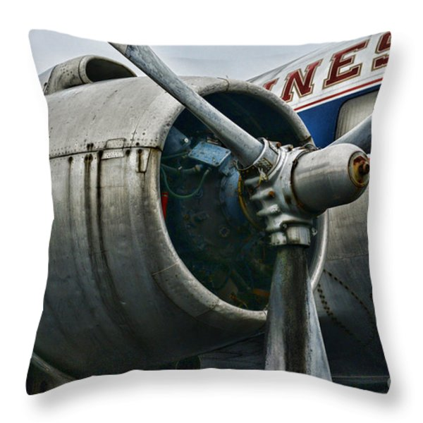 Plane Check Your Engine Throw Pillow by Paul Ward